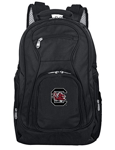 Denco NCAA South Carolina Fighting Gamecocks Voyager Laptop Backpack, 19-inches, Black