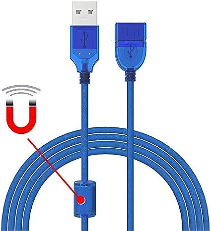 Alargador USB (3 Unidades, Alta Velocidad, núcleo de ferrita, 1,5 ...