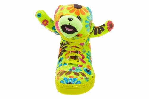 Adidas Jeremy Scott JS Bear Psychedelic Flower Power Mens Shoes G61076 Green 0IlsWraM