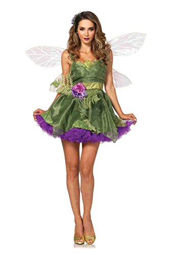 3pc. Woodland Fairy Organza Costume Bundle with Rave Shorts (Woodland Fairy Costumes For Adults)