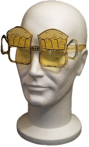 Loftus International ST Patrick's Day Party Favor Beer Mug Beer Goggles - Beer Sunglasses