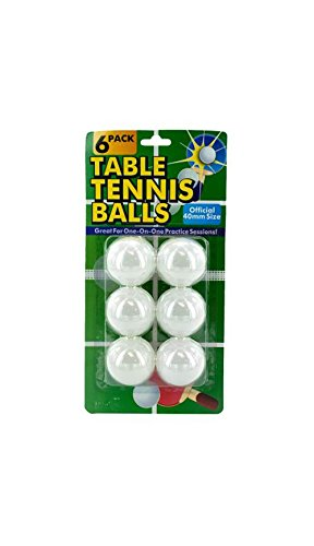 Table Tennis Balls in White - Set of 24 by Kole Imports