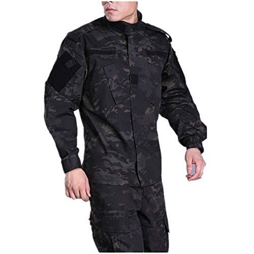 HAOYK Airsoft Paintball Combinaisons Tactiques Hommes Chasse Combat BDU Uniforme Veste Camo Chemise et Pantalon avec… 4