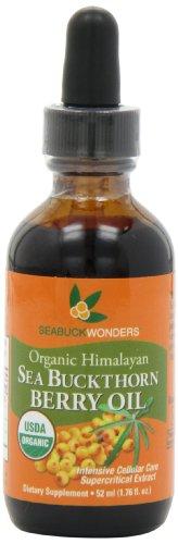 Organic Sea Buckthorn Berry (Sea Buckthorn Berry Oil - 100% Certified Organic, 1.76-Ounces Bottle)
