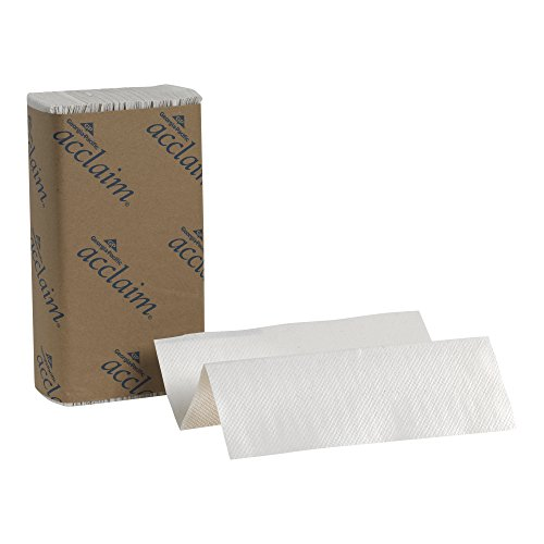 Georgia Pacific Acclaim 20204 White Multifold Paper Towel   Wxl  9 2  X 9 4   Case Of 16 Packs  250 Towels Per Pack