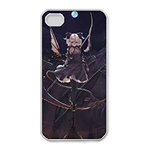 HD exquisite image for iPhone 4 4s Cell Phone Case White dark girl in the moonlight MIO9258459