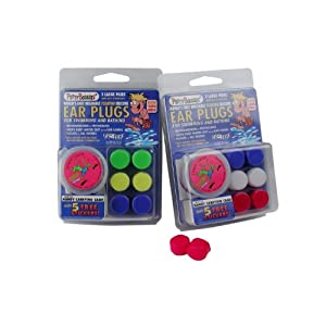 2 PACK!!! 6 Pair Putty Buddies WaterBlock Swimming Ear Plugs Qty.2 3packs Included Yellow, Green, Blue Color Ear Plugs