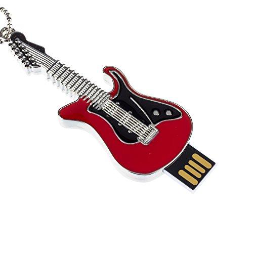 MAXINDA 16GB Gitarre- From USB Stick, lustige Figur Speichersticks,witzige das besondere Geschenk(Rot)
