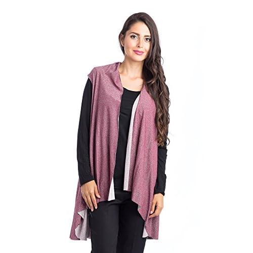 elegante Abbino 3885 Chalecos para Mujer - Hecho en ITALIA - 4 Colores - Abrigos  Chaquetas bf0a3f6fd645