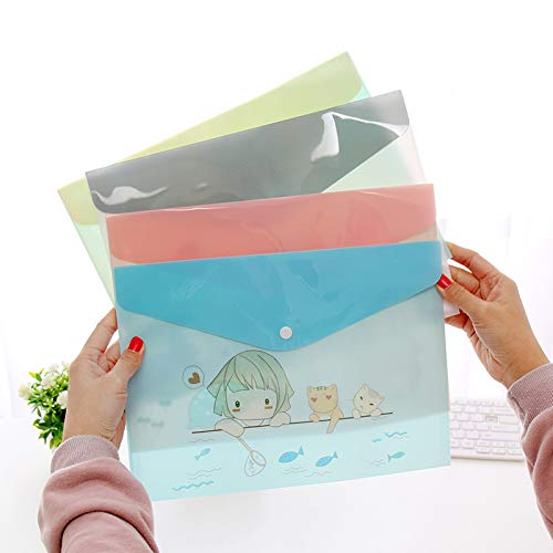 VT BigHome File Folder Cute cartoon animals paper bag translucent document bag for business and school Office Supplies