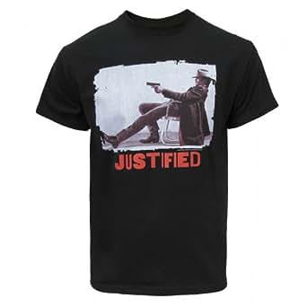 Justified Unisex Raylan T-Shirt Black Large