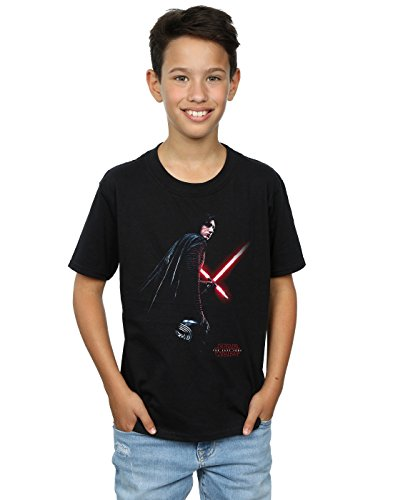 Star Wars Boys The Last Jedi Kylo Ren Shadow T-Shirt 5-6 Years Black