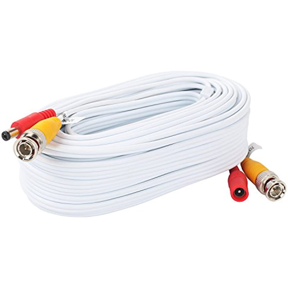 4 Pack 25 Feet Pre-made All-in-One Security Camera Wire BNC Video Power Cable