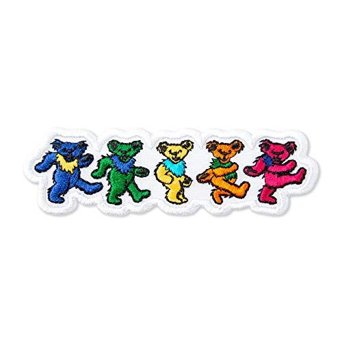 Grateful Dead Dancing Bears Music Rock Band Embroidered Back Patch Iron On (3.9