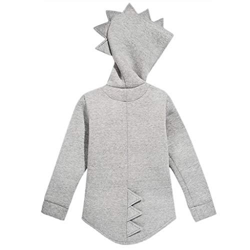 dbe53dee9 Hot Sale!! Children Kid Baby Dinosaur Hooded Outerwear Jacket Long ...