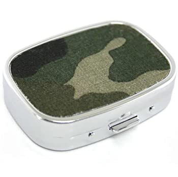 Camouflage Design Metal Pill Box