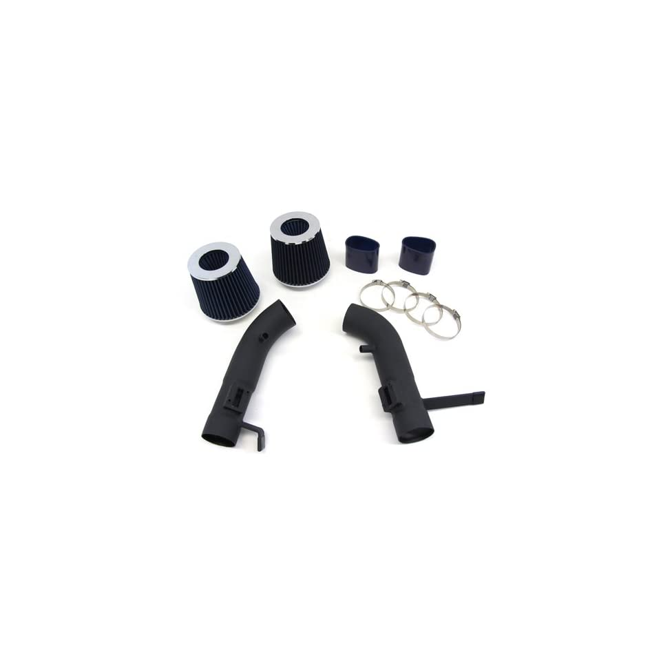 09 11 NISSAN 370Z NISMO 3.7L V6 Dual Short Ram Air Intake Black Pipes Kit