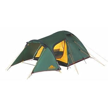 Image of Alexika 9126.4101 Zamok 4 Tent Width 220 x Length 420 x Height 125 cm Green Exterior Yellow Interior Tents