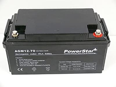 PowerStar 70Ah 12V Backup Sump Pump System Battery WSB1275