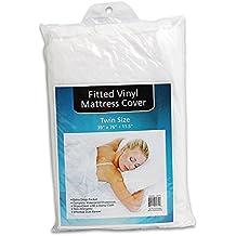 "babykidsbargains Plastic White Twin Size Mattress Cover Protector Vinyl Sheet Waterproof(39""x76""+11.5"")"