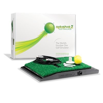 OptiShot 2 Home Simulator Bundle | Includes Callaway 7-foot Hitting Net & 18 HX Practice Balls