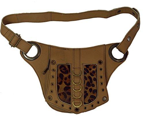 Sidebag & Gürteltasche aus hellbraunem Leder Goa Tasche / Sidebags & Gürteltaschen