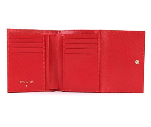 13 Pepe leather Saffiano Wallet Patrizia cm Red Itvxpvwqd