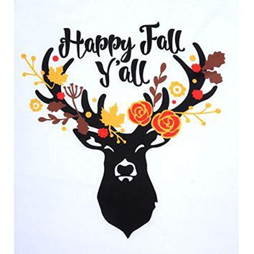 Sleeve Raglan Elk Women Tee Y'all Long shirt Happy Christmas Black Fall Baseball T qABwzz4t