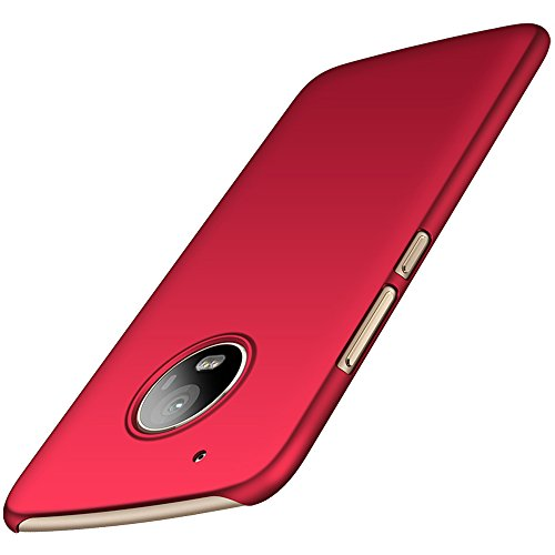 Anccer Motolora Moto G5 Plus Case [Colorful Series] [Ultra-Thin] [Anti-Drop] Premium Material Slim Ultra Thin Cover For Moto G Plus 5th Generation (Smooth Red)