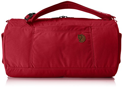 Fjällräven Splitpack Borsa da spiaggia, 45 cm, 30 liters, Verde (Dark Olive) Rosso (Redwood)