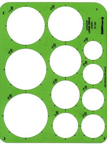 Alvin TD1201 Large Circles Template (Large Circles Template)
