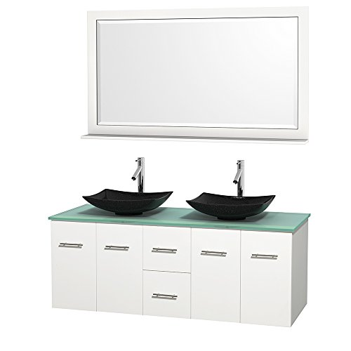 Centra 60 Inch Double Bathroom Vanity In Matte White