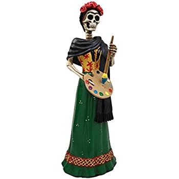 f684fbf2c7c ... Pintora Mexican Lady Skeleton Day of The Dead Decor Figurine 8.25