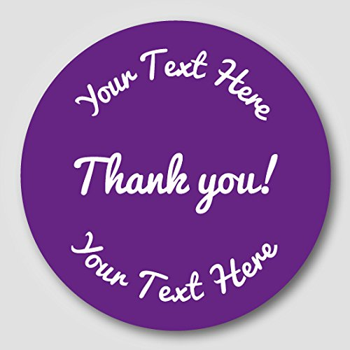 48 30mm personalised thank you shop or small business gift stickers