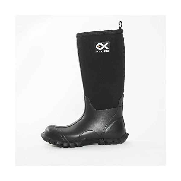 Duck and Fish Buck Man 16 inches Black Fishing Hunting Neoprene Rubber Knee Boot 2