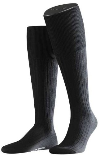 Falke Mens Bristol Knee High Socks - Black - Large