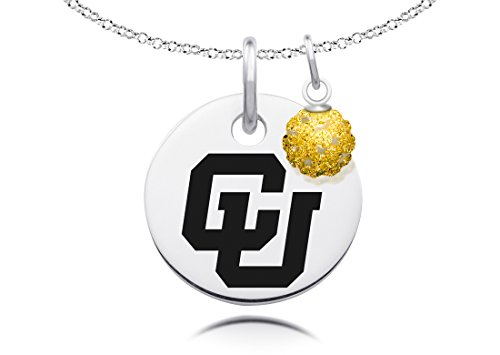 Colorado Buffaloes Necklace with Crystal Ball Accent Charm