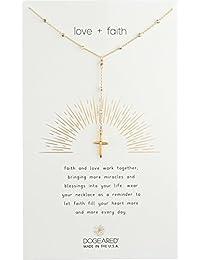 Womens Love + Faith, Cross Rosary Necklace