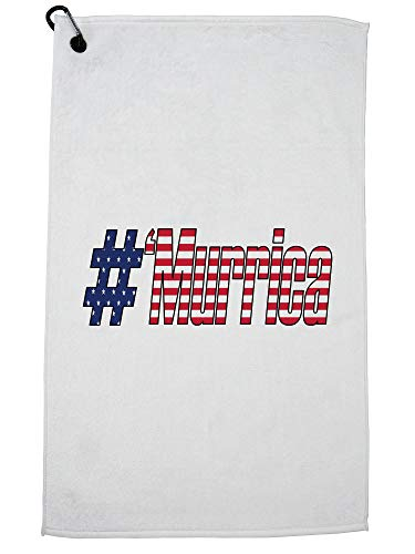 Hollywood Thread Cool #'Murrica Flag pride 4th July Golf Towel Carabiner Clip by Hollywood Thread
