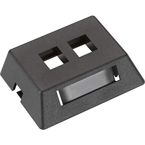 Modular Furniture Faceplate - Black Box WPT459-MF GIGABASE2 MODULAR FURNITURE FACEPLATE, 2