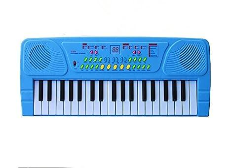 37 teclas de teclado electrónico juguete para niños de Órgano con Power Multifuncional Micrófono, c: Amazon.es: Instrumentos musicales