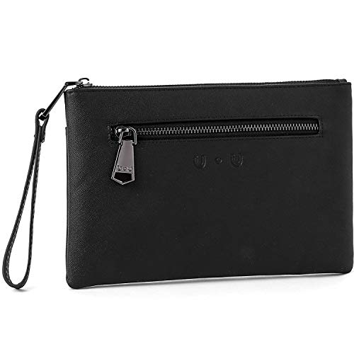 for Women, Soft PU Leather Ladies Large Capacity Purse with Power Bank(Black) ()