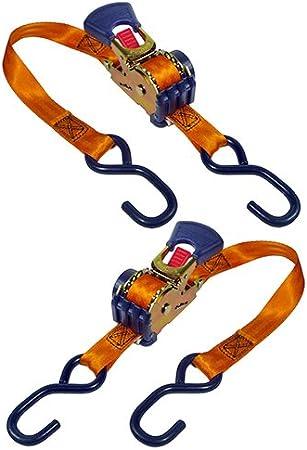 Retractable Ratchet Tie-Down (2 pack)
