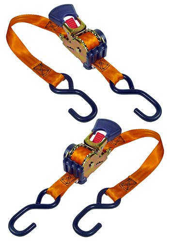 Keeper 05561 6' x 1'' Retractable Ratchet Tie-Down, 2 Pack by Keeper