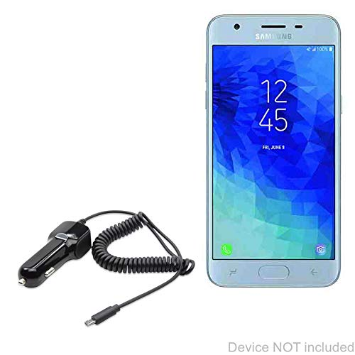 Car Charger and Integrated Cable for Samsung Galaxy J3 Aura Car Charger Plus Black BoxWave Samsung Galaxy J3 Aura Car Charger,