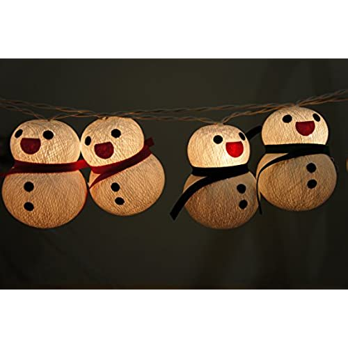 1 Set Lighting String 20 Snowman Light For Home Decoration Christmas New Year Birthday Kids Bedroom Patio Living Room Yard Garden Indoor And