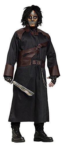 Grim Reaper Mascot Costume - GTH Men's Scary Grim Reaper Evil Soul Stealer Fancy Halloween Costume, Standard