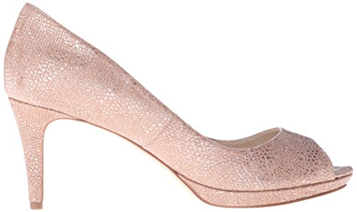 Gelabelle Metallic Natural Nine West Peep Pumps Women's Toe pPEzP6
