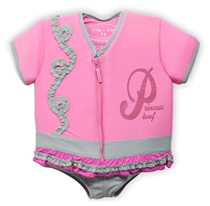 Plouf Natacha - Bañador flotador, color rosa rosa rosa Talla:13 à 15 kg