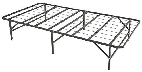 Drawer Box Bed Set (Leisuit Platform Bed Frame Base - Black Finish Bedroom Furniture Smartbase Mattress Foundation with Storage | No Box Spring | Twin)